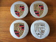 Lot de Porsche Centre Métallique Caps for design 90 Roues 911 944 S2 1988-1994