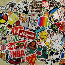 100pcs lot Skateboard Vinyl Sticker Skate Graffiti Laptop Luggage Car Bomb Decal