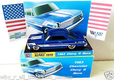 1963 CHEVROLET CHEVY 2 NOVA Hot Wheels Diecast 1:64 Car in Custom Display & Box