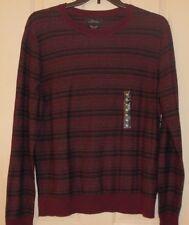 Marc Anthony Men XL Sweater Slim Fit Cotton Cashmere Blend Burgundy Wine $65 NWT