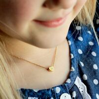 Gold Love Heart Initial Alphabet Letter Ladies Girls Chain Friendship Necklace