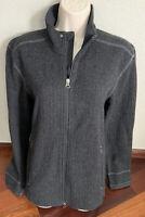 Prana Women's M Wool Blend Full Zip Sweater Jacket Charcoal