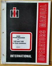 INTERNATIONAL 825 HEADER OPERATORS MANUAL