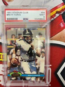 1991 Stadum Club Brett Favre Rookie Card  PSA 9 Mint