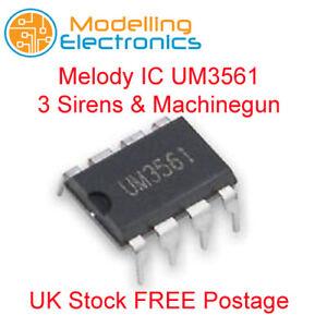 UM3561 Melody Generator - Melody IC UM3561 - 3 Sirens & Machinegun