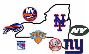 New York Yankees Mets Jets Giants Rangers Islanders Buffalo 8x10 Framed Photo