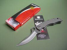 SPYDERCO LACI SZABO CUSTOM FOLDING KNIFE / C146CFP / #14 OF 50 NEW IN SIGNED BOX