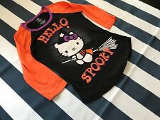 Hello Kitty Spooky Witch on Broom T-Shirt Large L 11/13 Girl Youth Halloween TEE
