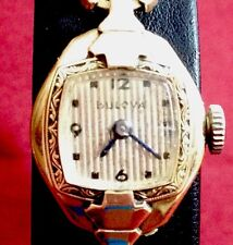 Bulova Vintage Ladies 1942 Mechanical Watch With Academy Awards Dial