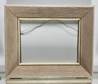 "VTG. Aesthetic Mid Century Art Deco Wood Picture Frame Fits 9""x 12"""