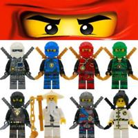 8pcs Ninjago Legoe Minifigure Lloyd Mini figure Building Set Jay Kai Multicolor