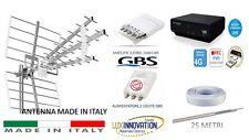 KIT ANTENNA  TV DIGITALE TERRESTRE +DECODER +AMPLIFICATORE+ ALIMENTATORE