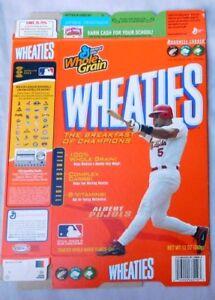 Albert Pujols St Louis Cardinals Wheaties Cereal Box