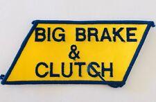 Big Brake & Clutch Vintage Automotive Patch Badge Rare (P8)