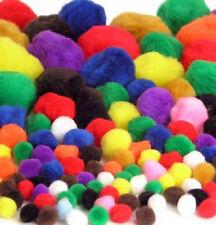 Pom Pom craft ball Pack of 300 assorted size & bright colours Fluffy Pom Poms