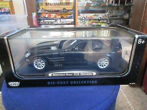 MotorMax 1:12 Mercedes-Benz SLR McLaren BLACK With Display Case RARE! Diecast