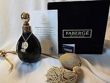 Vintage Faberge St Louis Crystal Perfume Bottle, Limited Edition, Very Rare