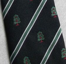 Vintage Tie MENS Necktie Crested Club Association Society TREE