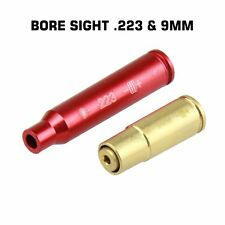2 items RED Laser .223 & 9mm Bore Sight Boresighter Laser Boresight