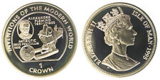 1 Crown 1995 Alexander Fleming Isola di Man Isle of Man Silver Proof #907A