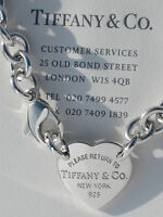 Tiffany & Co Return To Tiffany Heart Tag Choker Sterling Silver Necklace