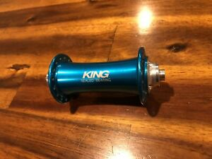 Chris King Classic Front Hub 100mm QR 32H Turquoise Blue usa mtb road vintage