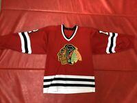 Chicago Blackhawks Sewn Jersey #12 Tom Lysiak Gunzos M-L Practice Game Worn Rare