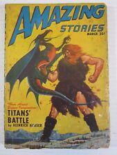 AMAZING STORIES March 1947 Science Fiction Pulp Magazine Alexander Blade