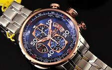Invicta 17203 Men 48mm AVIATOR Tachymeter Chronograph Blue Dial Bracelet Watch