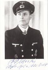 More details for karl -friedrich merten- u-boat commander - signed 6