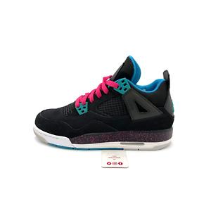 Nike Air Jordan 4 Retro Black Vivid Pink Blue GS (487724-019) Youth Size 5Y-7Y