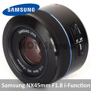 Samsung NX 45mm F1.8 i-function Lens for NX1 NX30 NX500 NX3000 NX300m