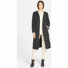 Eileen Fisher NWT $398 black cotton/nylon coat with 2 pockets size 1X