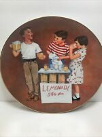 NORMAN ROCKWELL'S ''LITTLE SALESMAN'' PLATE AMERICAN FAMILY SERIES II  8 5/8''