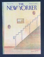 COVER ONLY ~ The New Yorker Magazine, November 8, 1976 ~ Paul Degen