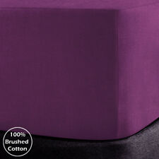 100% Brushed Cotton Flannelette Extra Deep 40CM Fitted Bed Sheets. Pillow Cases
