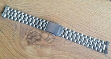 NEW SEIKO 18MM STAINLESS STEEL CURVED ENDS GENTS WATCH STRAP/ BAND (SE-14)