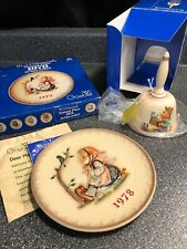 Goebel Hummel 1978 Annual Plate And First Edition 1978 Bell -Both Boxed