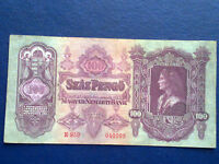 HUNGARY 100 PENGO 1930 - VERY FINE(3)