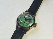 Vintage NOS 1960's Wotania Swiss Mechanical Moving Football Soccer Watch