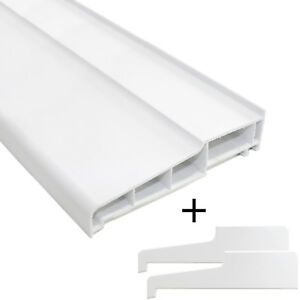 150mm uPVC External Cill + End Caps Window Door Sill Patio PVC Plastic Outside