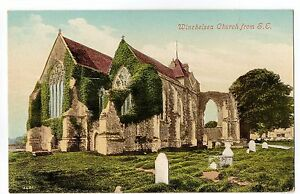 Winchelsea Church from S.E. - Sussex -  Old Valentine's Postcard
