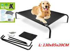 Bed Elevated Pet Dog Cot Outdoor Indoor Large Raised Frame Steel Camping 130cm W