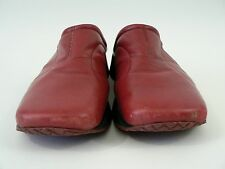 Enzo Angiolini Red Leather Mules Womens Slip On Shoes 8.5M Clogs Slides Casual