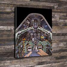 "Spitfire Cabina De Lona Impresa Caja A1.30""x20"" - Marco aviones de combate 30mm profundo"