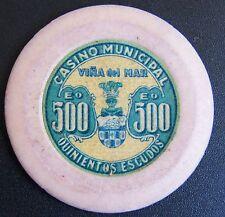 Chile Chip Casino Municipal de Viña del Mar Eº500 sticker verde