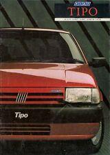 Fiat Tipo 1988-89 UK Market Sales Brochure 1.4 1.7D 1.6 DGT SX 1.9 Tds