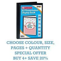 *OFFER* PREMIUM A5/A4/A3/A2 Tiger Black Display Book Presentation Folder Folios