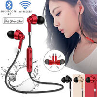 Sweatproof Headphones Wireless Bluetooth Sport Earphone Stereo Headset Mic Lot
