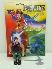 Pirate Action figure by Kids Goods DECKHAND with patch Complete cardback 1986